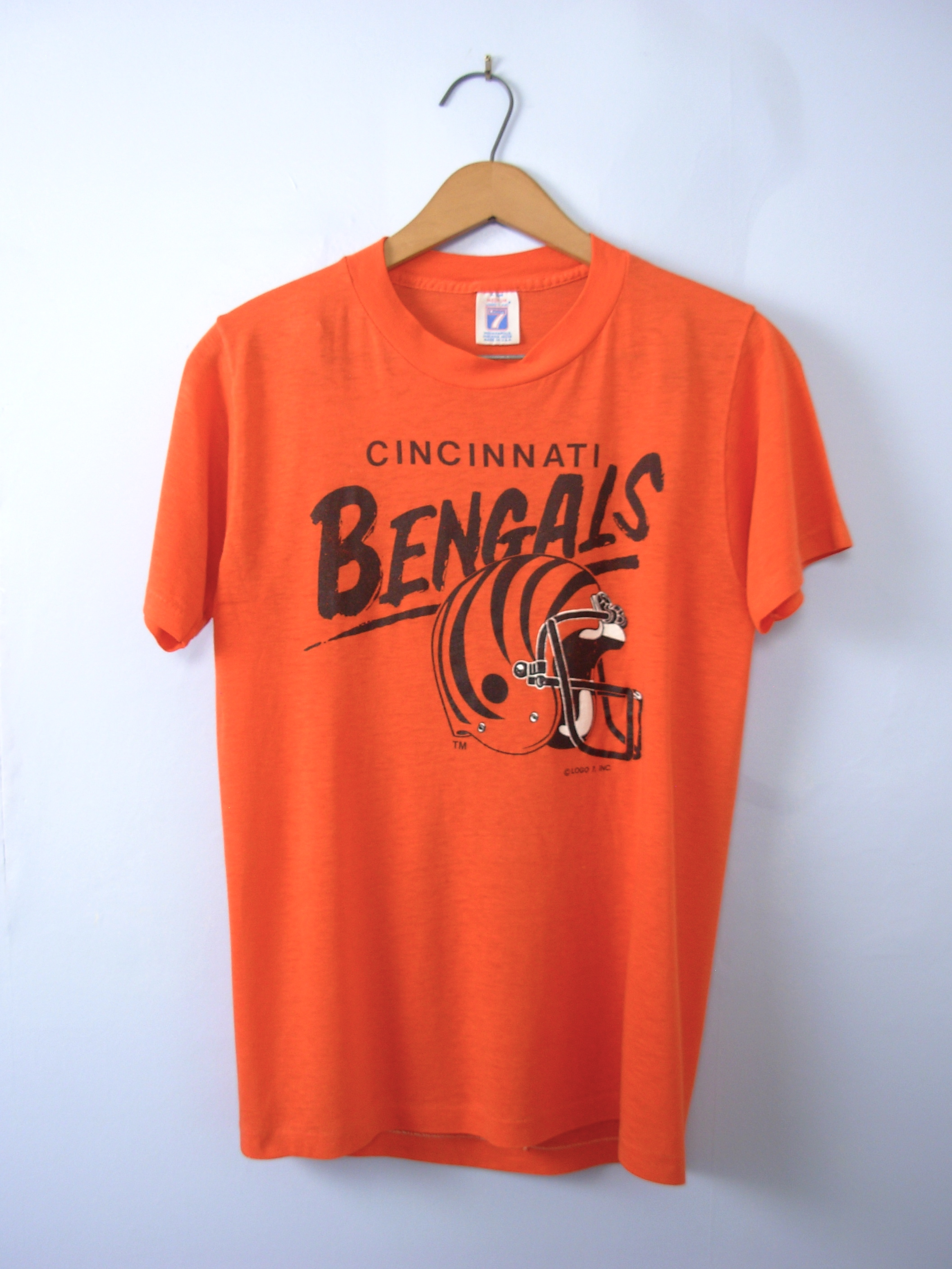 80 39 s cincinnati bengals graphic tee football shirt size for Vintage bengals t shirts