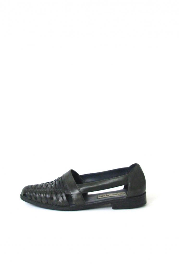 61017ba1be633 Vintage 90 s black leather huarache sandals