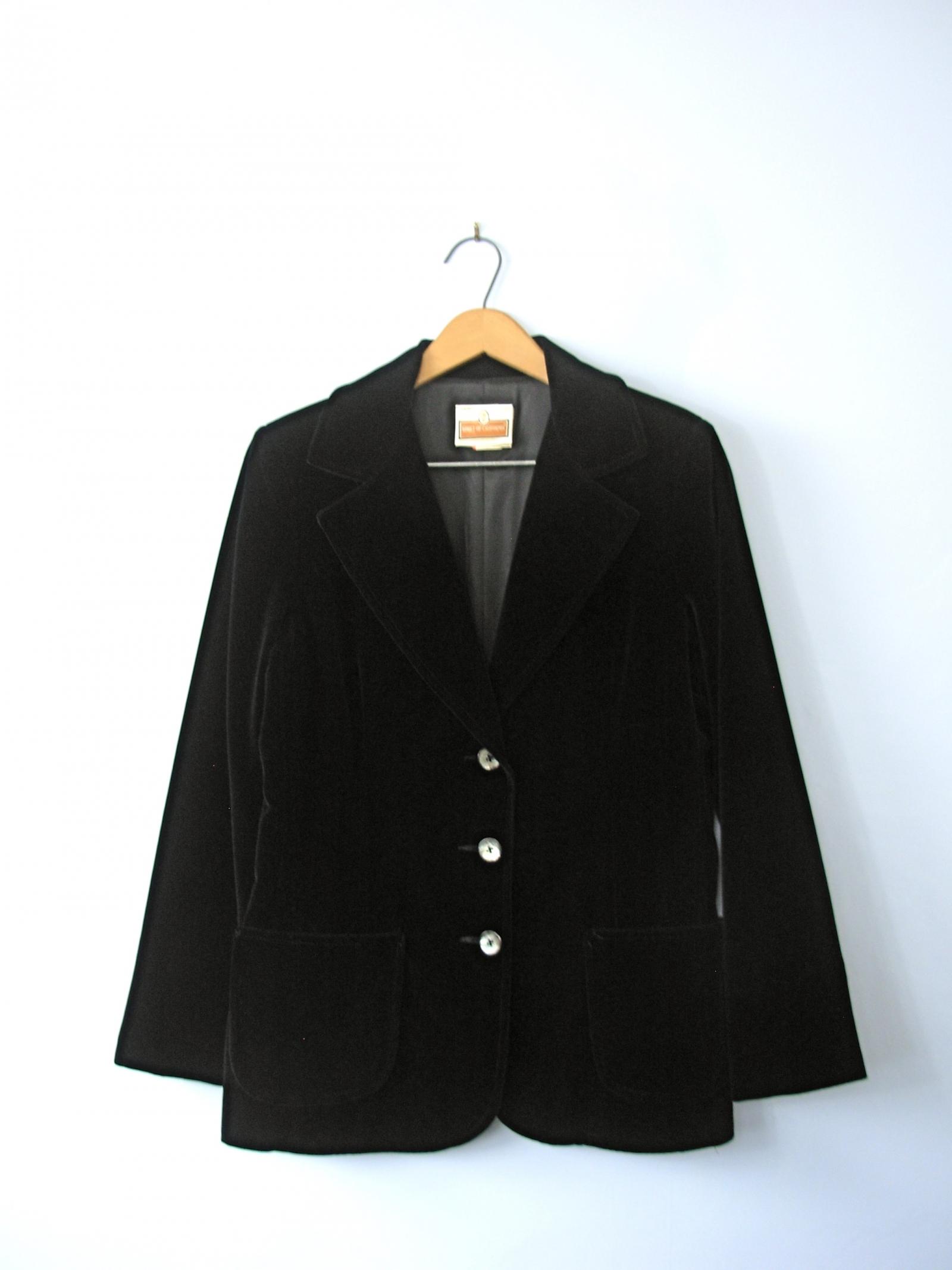 Womens black velvet jacket
