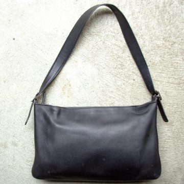 Vintage 90's black Coach shoulder bag, leather purse
