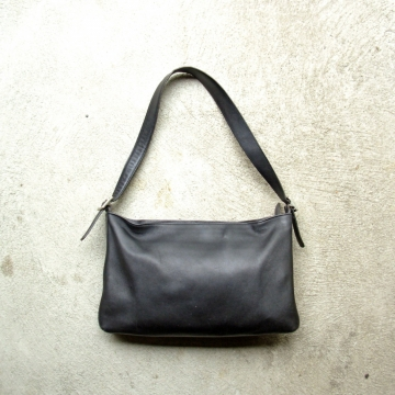 Vintage 90's black Coach shoulder bag, leather purse