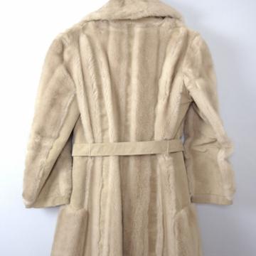 Vintage 70's faux fur coat, statement coat, winter coat, suede leather coat, size medium
