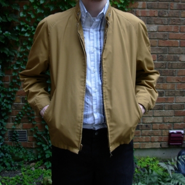 Vintage 40's men's khaki green / brown jacket with raglan sleeves, size 42 medium
