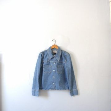 Vintage 90's women's denim jacket, jean jacket, Express brand, size large