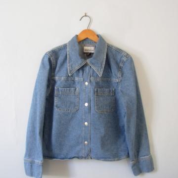 Vintage 90's women's denim jacket, jean jacket, Express brand, size large
