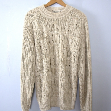 7a61c19c1 ... Vintage 80 s oatmeal cotton cable knit sweater