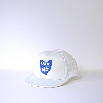 Vintage 70's Let Us Vote Ohio movement white trucker hat snap back, Boyce & Hart
