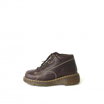 Vintage 90's grunge Dr. Martens brown leather ankle boots, women's size 10
