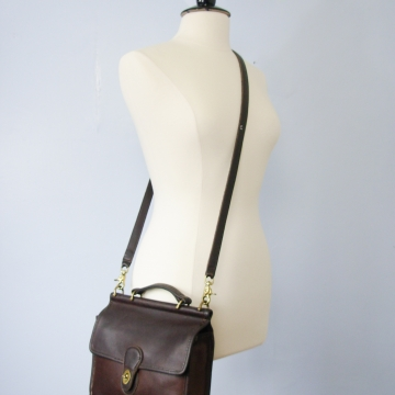 Vintage 90's Coach Willis satchel bag, brown leather crossbody purse