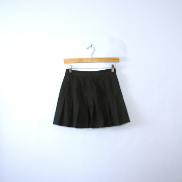 Vintage 90's pleated black ultra mini tennis skirt, women's size small / xs