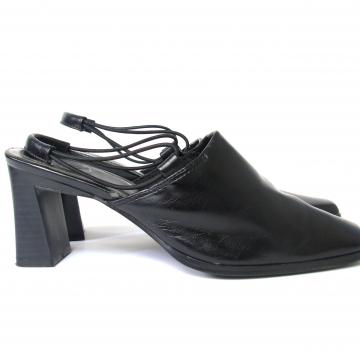 Vintage 90's black slingback heels, women's size 7 W