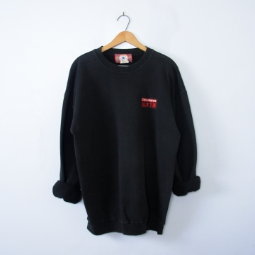 Vintage 90's plain black converse sweatshirt, men's size XL