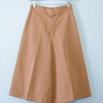 70's apricot gaucho shorts wide leg culottes, women's size small