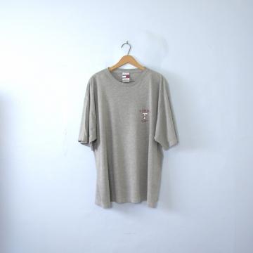 Vintage 00's Y2K Tommy Hilfiger grey logo shirt, size XL