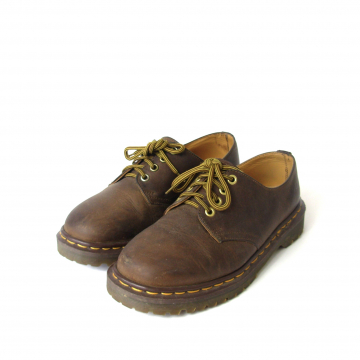 Vintage 90's Dr. Martens brown leather ankle boots, men's size 6