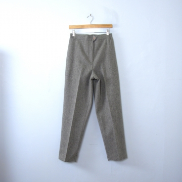 Vintage 80's grey wool trouser pants, women's size 10 / 8