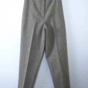 Vintage 80's grey wool trouser pants, women's size 10 / 8