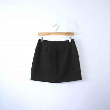 Vintage 90's black mini skirt, women's size 6 / 4
