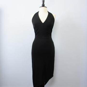 90's Bebe black halter dress, women's medium