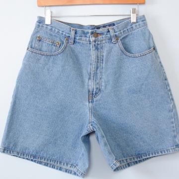 90's Eddie Bauer high waisted denim shorts, women's size 10 / 12