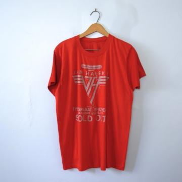 Vintage 70's rare Van Halen shirt concert band tee, size large