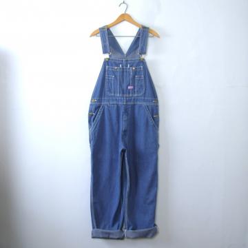 Vintage 90's Big Smith carpenter blue denim overalls, men's size 34