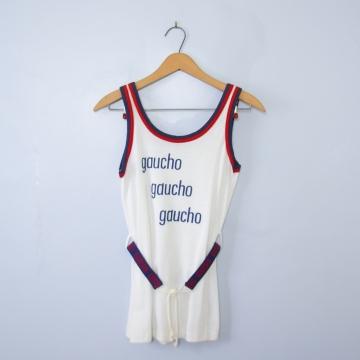 Vintage 70's gaucho tank top, men's size XS