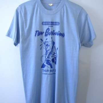 Vintage 70's rare New Barbarians shirt concert band tee, size medium and XL