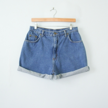 90's high waisted denim shorts, women's size 12