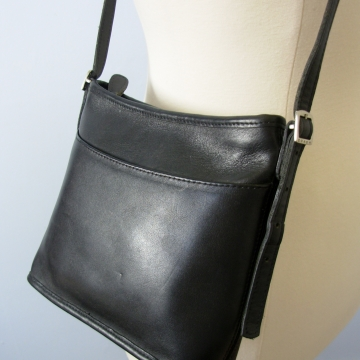 Vintage Y2K Coach Mambo hobo black leather shoulder bag