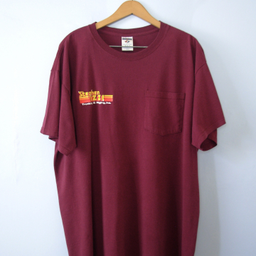 Vintage 90's graphic tee, Stephen Izzi trucking shirt with pocket, size XL