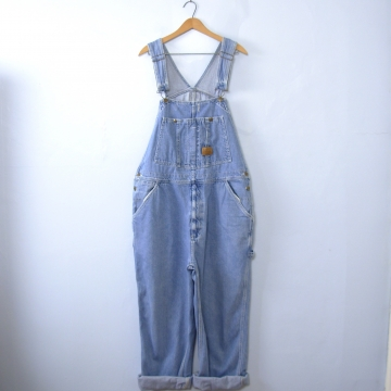Vintage 90's light denim carpenter overalls, size 40 / large / XL