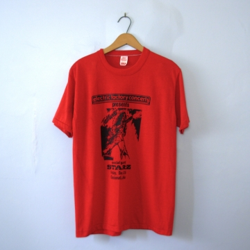 Vintage 70's rare Ted Nugent shirt Cincinnati Ohio concert band tee, size large