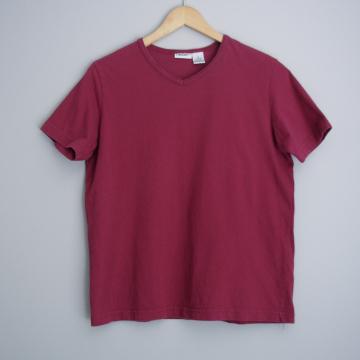90's plain burgundy shirt, women's size medium