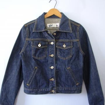 Vintage 90's dark denim jacket, Express jean jacket, women's size small