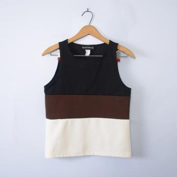 Vintage 90's colorblock sleeveless shirt, women's size medium