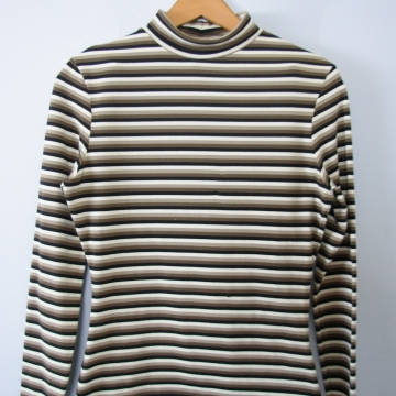 Vintage 90's Express striped turtleneck shirt, women's size small