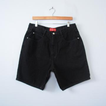 80's black high waisted denim shorts, women's size 16 / 18