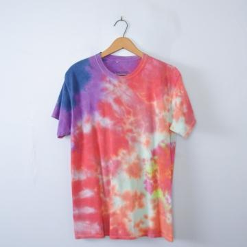 Vintage 90's pink tied dye shirt, men's size medium