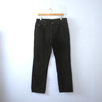 Vintage 90's Lee straight leg black denim jeans, men's size 36