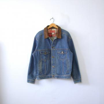 Vintage 90's oversized Marlboro jean jacket, denim jacket, size medium