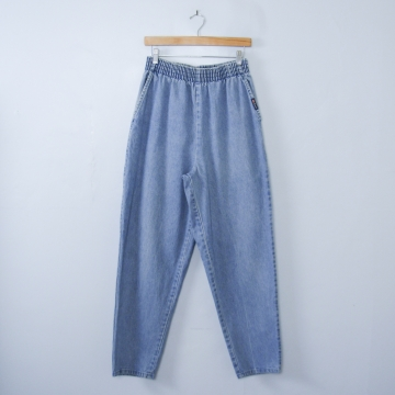 Vintage 80's Route 66 high waisted blue jeans with elastic waist, women's size 12 /10