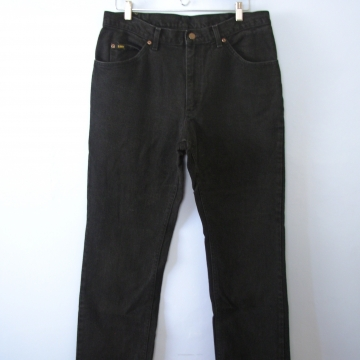 Vintage 90's Lee straight leg black denim jeans, men's size 36