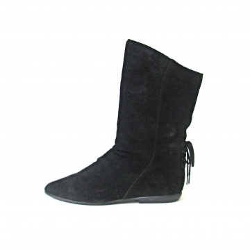Vintage 80's black suede slouchy boots, women's size 9 / 10
