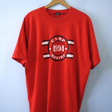 Vintage 90's graphic tee, Camp 1994 red shirt, size XL