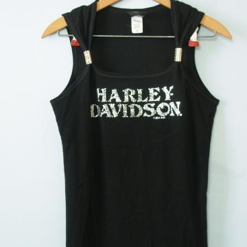 Y2K Harley Davidson black tank top, women's size medium / small