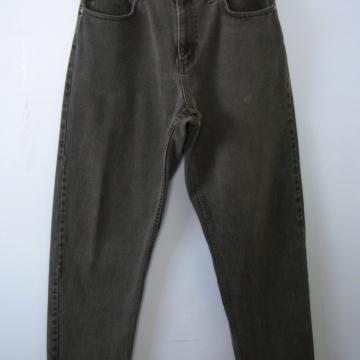 Vintage 90's Ralph Lauren black denim jeans with tapered leg, men's size 34