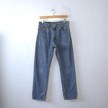 Vintage 90's Levi's 505 blue denim straight leg jeans, men's size 32