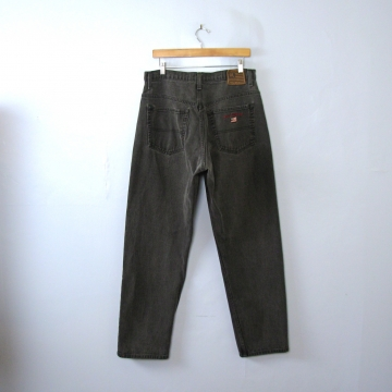 Vintage 90's Ralph Lauren black denim jeans with tapered leg, men's size 34