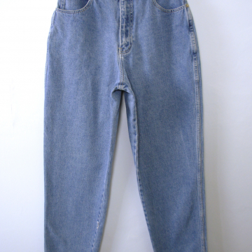 Vintage 80's Stefano blue denim high waisted mom jeans, tapered leg, women's size 12 / 10